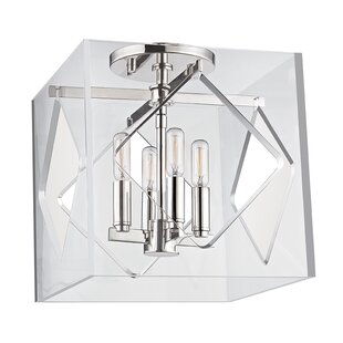 Willa Arlo Interiors Rooker 4-Light Flush Mount