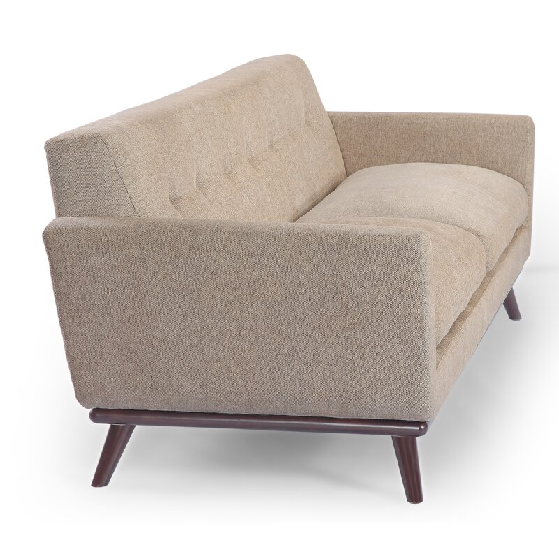 Superbe Luther Mid Century Modern Vintage Sofa With Wood Legs