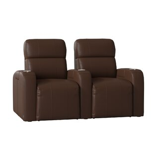 Latitude Run Home Theater Row Seating with Chaise Footrest (Row of 2)