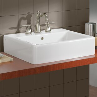 Nuovella Ceramic Rectangular Vessel Bathroom Sink with Overflow ByCheviot Products