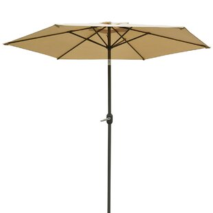 Alcott Hill Milligan Hexagonal Outdoor Garden Patio Market Umbrella