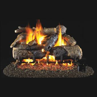 American Gas Log Seville Charred Vented Natural Gas Propane Fireplace Log Set Wayfair