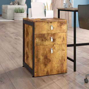 Enes 3 Drawer Mobile Vertical Filing Cabinet