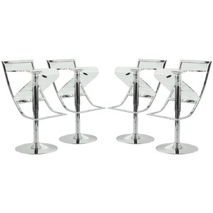 Napoli Adjustable Height Swivel Bar Stool (Set of 4) by LeisureMod