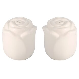 Ceramic Flower Salt & Pepper Shaker Set (Set of 2)