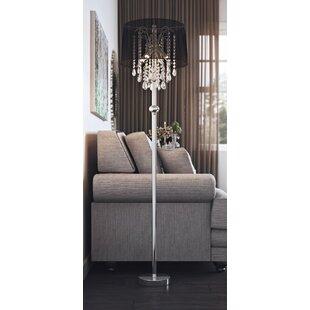 Crystal floor lamp wayfair warwick 155cm floor lamp mozeypictures Images