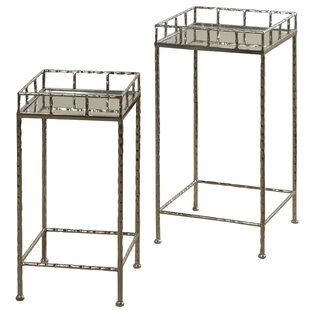 Downey Mirror Top 2 Piece Nesting Tables by Ebern Designs