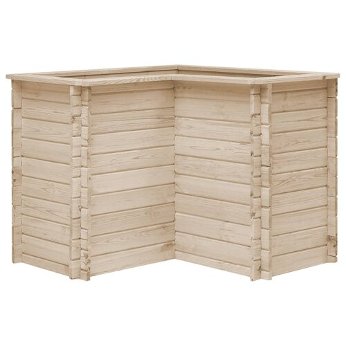 Havelock Wood Planter Box August Grove Size: 80cm H x 100cm