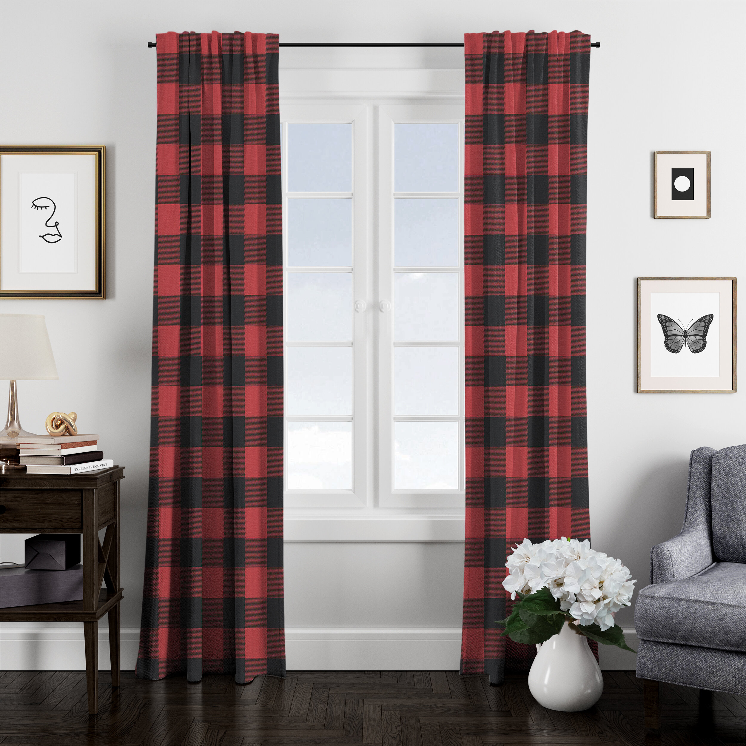 108 Inch Check Plaid Curtains Drapes You Ll Love In 2021 Wayfair