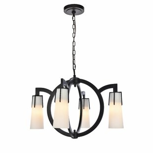 Latitude Run Sterns 4-Light Shaded Chandelier