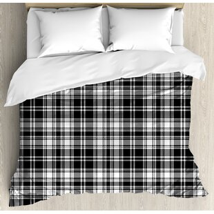 Abstract British Tartan Pattern With Vertical And Horizontal Symmetric  Stripes Image Duvet Set