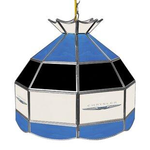 Trademark Global Chrysler Stained Glass 1-Light Pool Table Lights Pendant