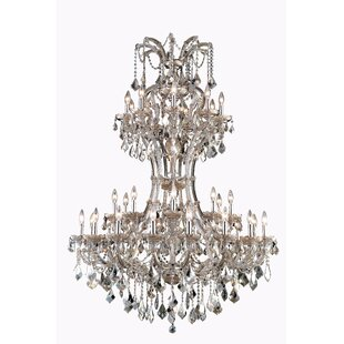 Regina 36-Light Royal Cut Candle Style Chandelier by House of Hampton