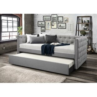 Charlton Home Dangelo Upholstered Daybed with Trundle