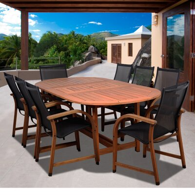 Tristen International Home Outdoor 9 Piece Dining Set by Highland Dunes Looking for