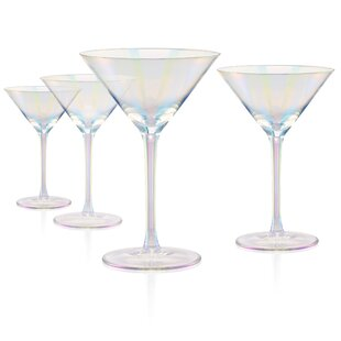 Mchaney Martini 8 oz. Glass Cocktail Glasses (Set of 4)
