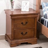 Aicha 2 - Drawer Nightstand in Brown by Alcott Hill®