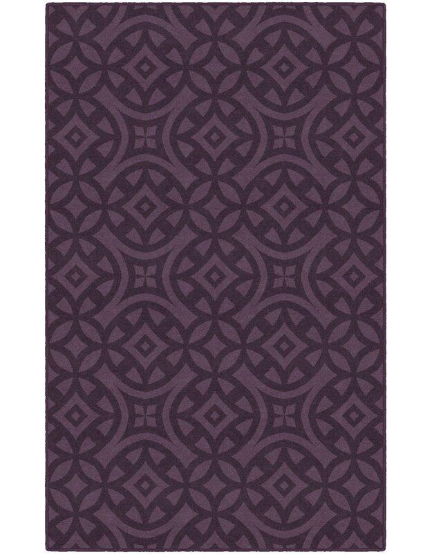 World Menagerie Messer Royal Trellis Purple Area Rug, Size: Rectangle 76 x 10