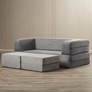 Eugene Modular Loveseat & Ottoman Sleeper by Zipcode Design