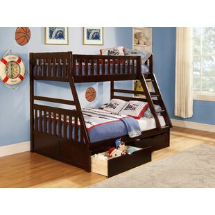 Affordable Adela Leonard Twin over Full Bunk Bed with Storage ByViv + Rae