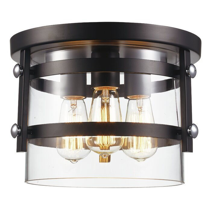 Daniel 3 Light Flush Mount