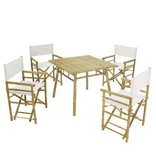 Whitson Bamboo Pub 5 Piece Dining Set wit..