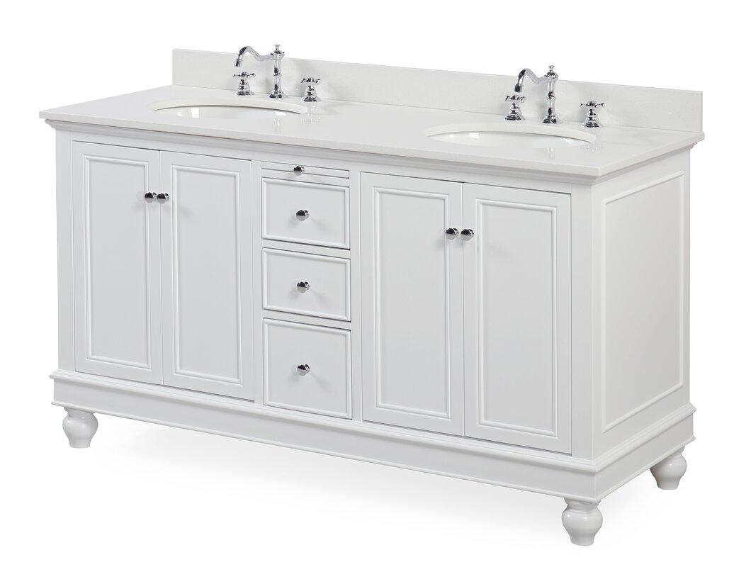 "Sale alerts for  Bella 60"" Double Bathroom Vanity Set - Covvet"