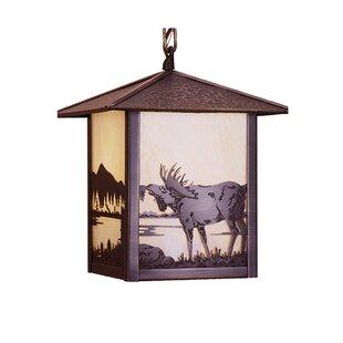Meyda Tiffany Seneca Moose at Lake 1-Light Lantern Pendant