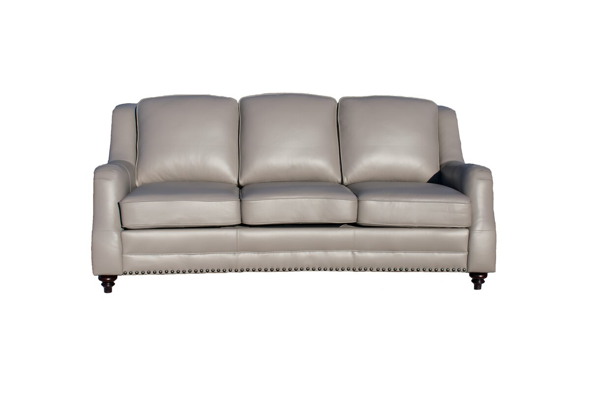 Canora Grey Cleary Leather Loveseat