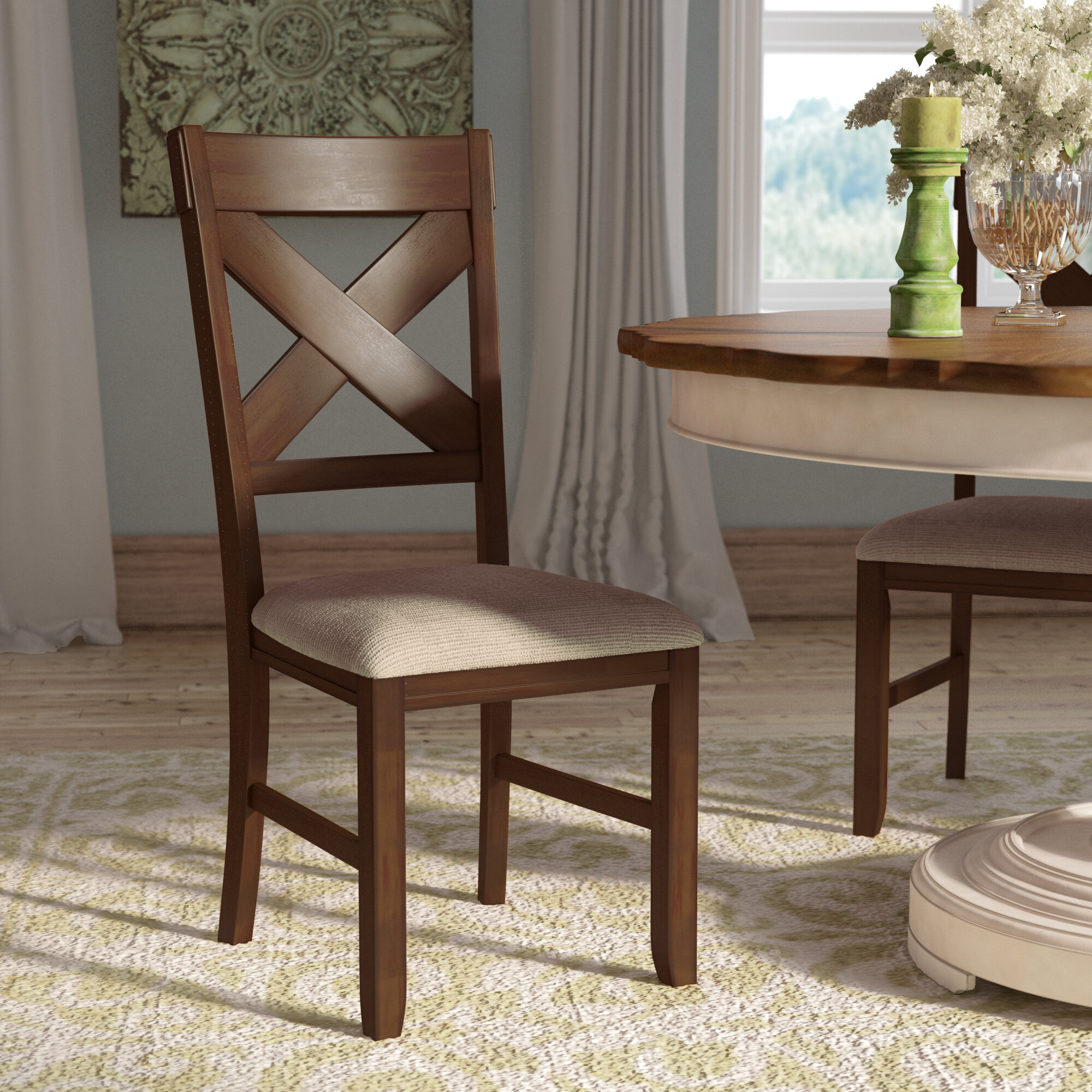 Image of: Laurel Foundry Modern Farmhouse Isabell Upholstered Dining Chair Reviews Wayfair Ca