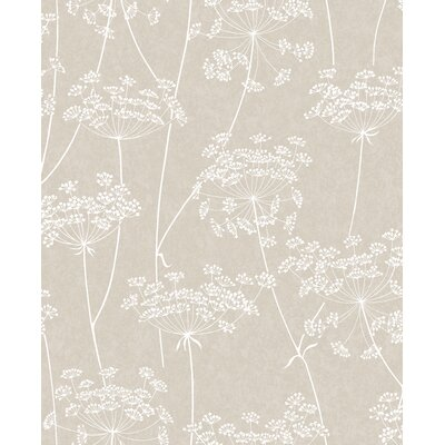 Charlton Home Mount Washington Aura 33' x 20 Floral and Botanical Wallpaper Color: Taupe