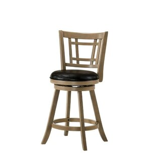 Micky Wooden 24 Bar Stool Ivy Bronx