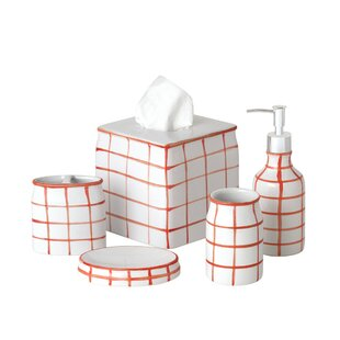 Zebediah 5 Piece Bathroom Accessory Set ByEbern Designs