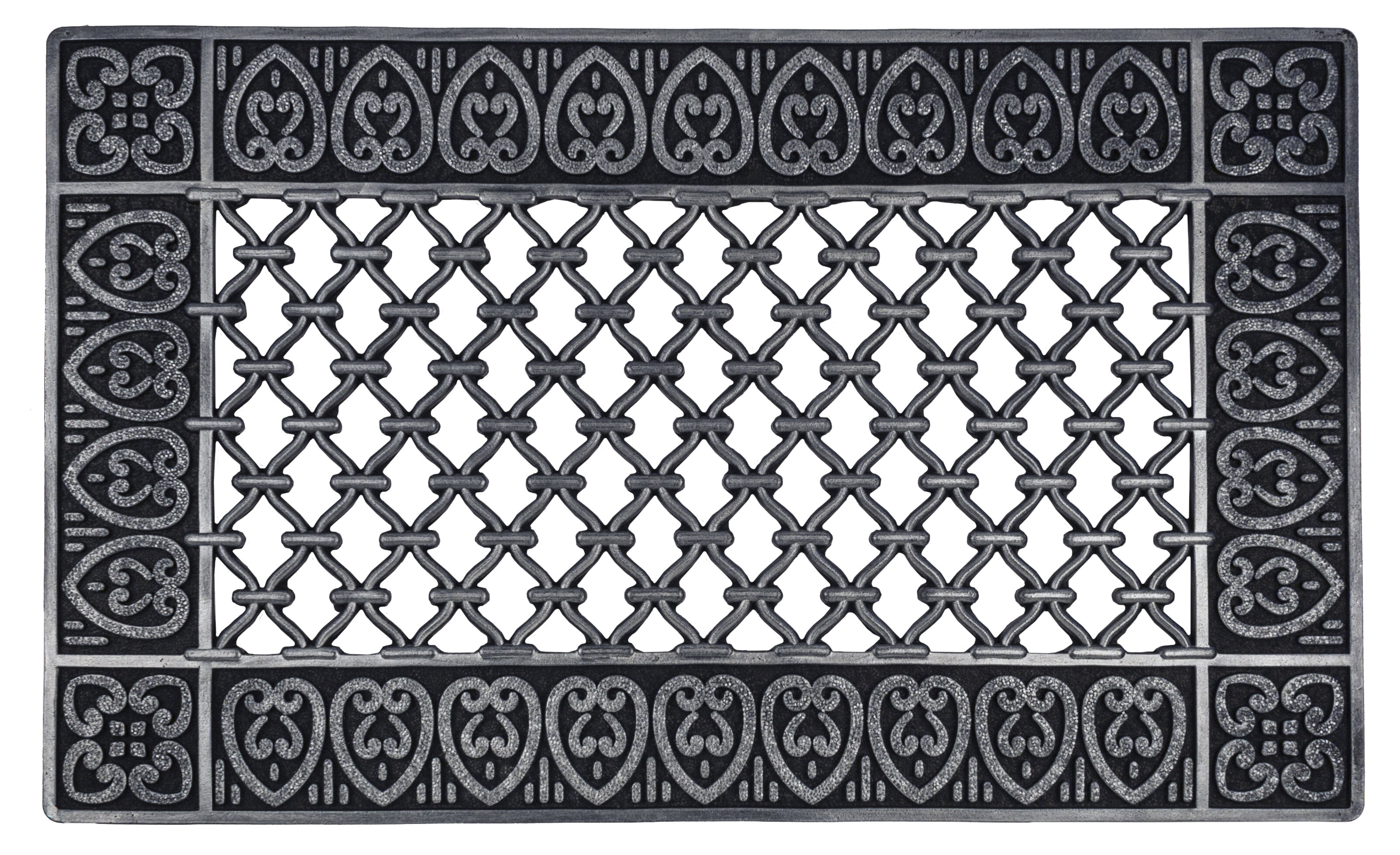 double mats mat large welcome beautifully scrollwork door hand elegant products finished rubber