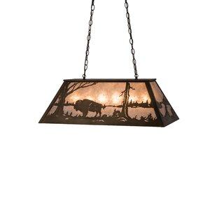 Meyda Tiffany Buffalo at Lake 6-Light Pendant