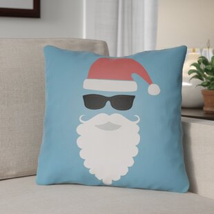 Cool Santa Outdoor Throw Pillow