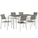 Coline Outdoor Patio 7 Piece Dining Set
