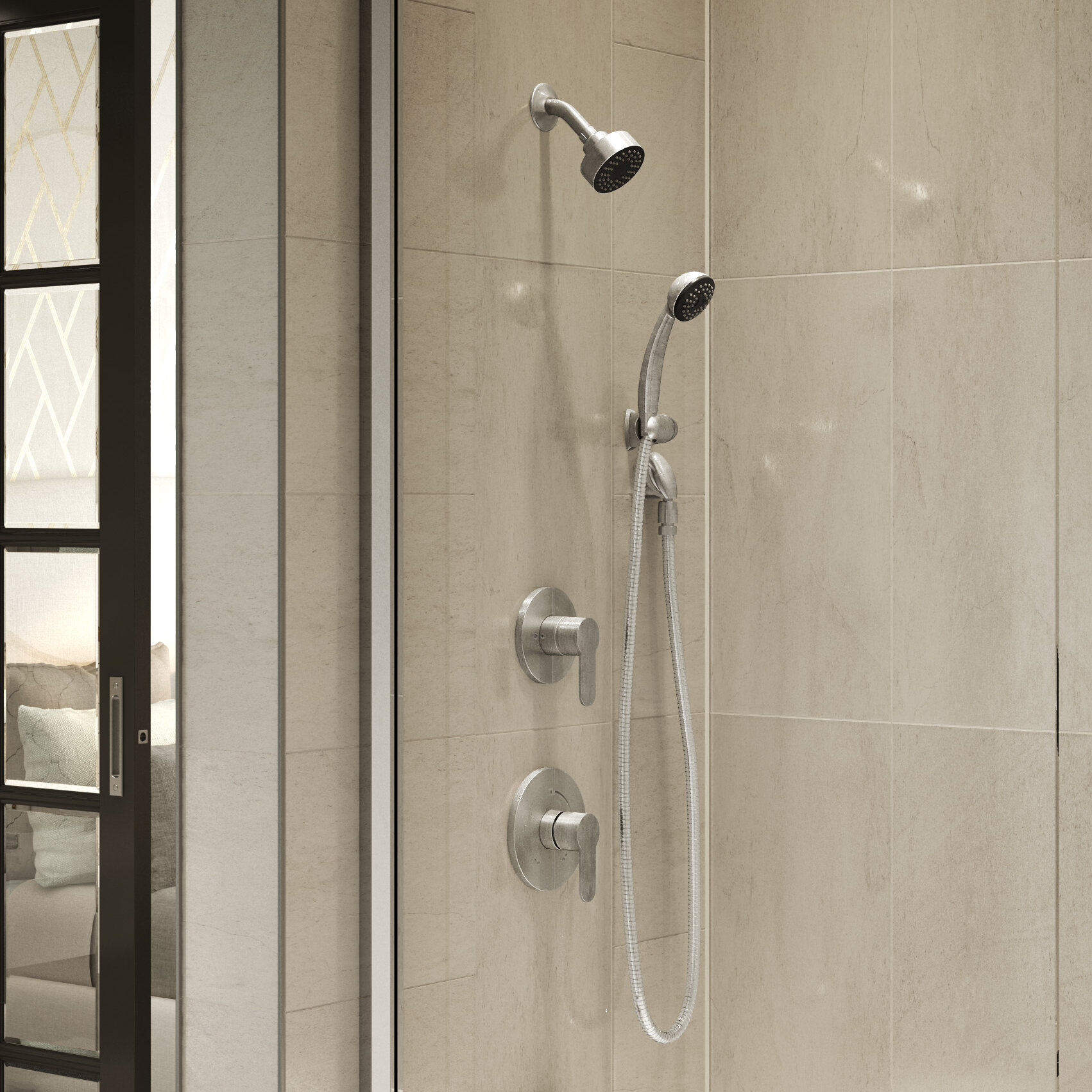 Symmons Identity Pressure Balance Spray Shower Faucet With Metal Lever Handle Wayfair