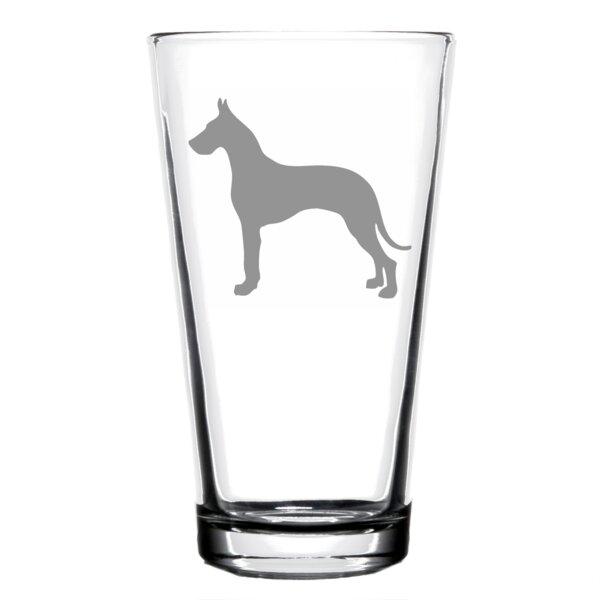Trinx Great Dane Dog 16 Oz Pint Glass