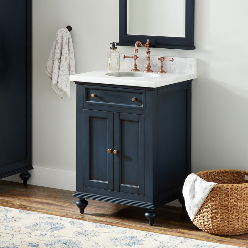Single Mahogany Bathroom Vanity Set