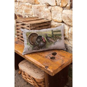 Wild Turkey Lumbar Pillow