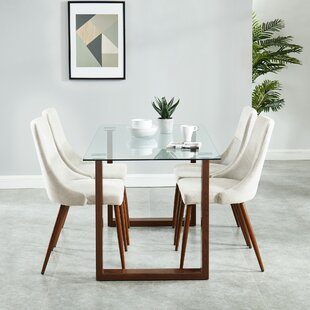 Roxanna Contemporary 5 Piece Dining Set