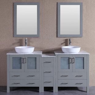 Danny 71 Double Bathroom Vanity Set with Mirror by Bosconi