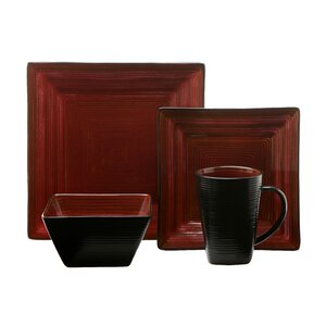 Adriatic 16 Piece Dinnerware Set, Service for 4