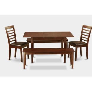 Balfor 5 Piece Extendable Dining Set Wonderful