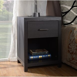 Turn on the Brights Edwidge 1 Drawer Nightstand