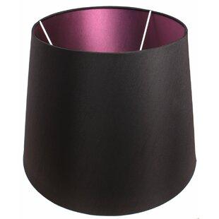 Purple light shades wayfair alline 45cm silk drum lamp shade mozeypictures Gallery