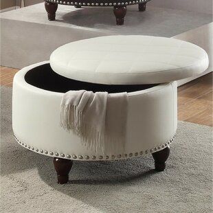 Rozier Leather Storage Ottoman by Charlton Home