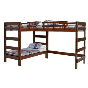 Deondre Twin L-Shaped Triple Bunk Bed by Viv + Rae