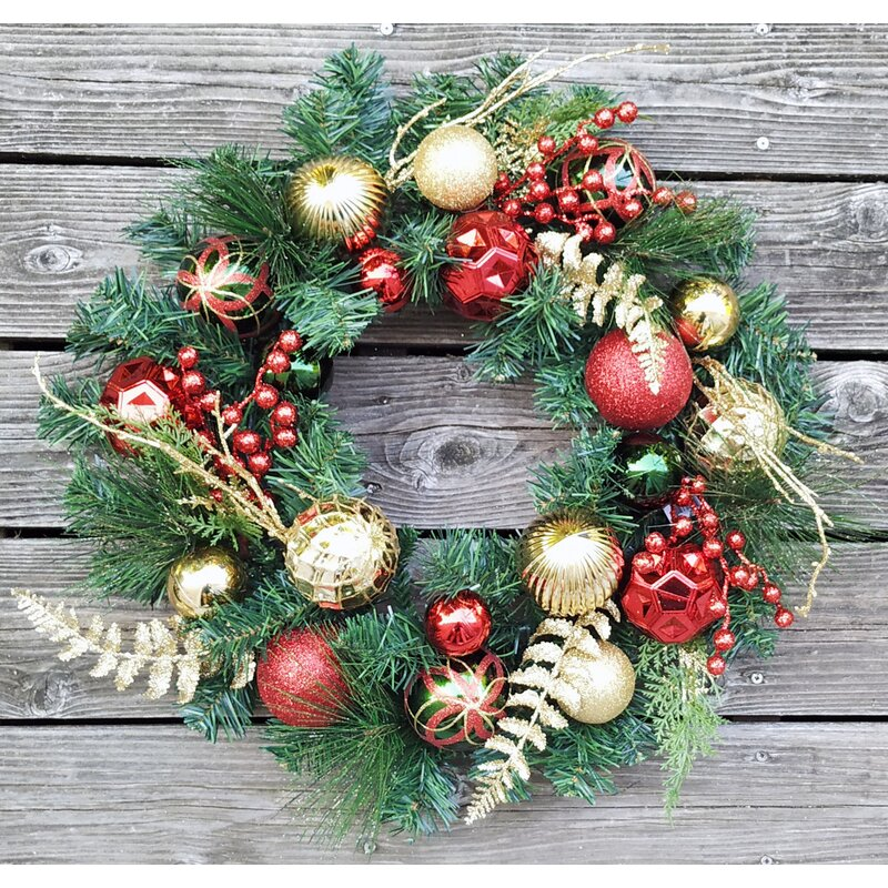"""The Holiday Aisle 9/"""" Berry Wreath Set of 4"""